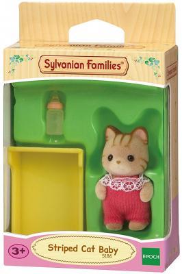 Игровой набор SYLVANIAN FAMILIES Малыш Полосатый котёнок 3 предмета 5186 игровой набор sylvanian families фортепиано 3 предмета от 3 лет 2950