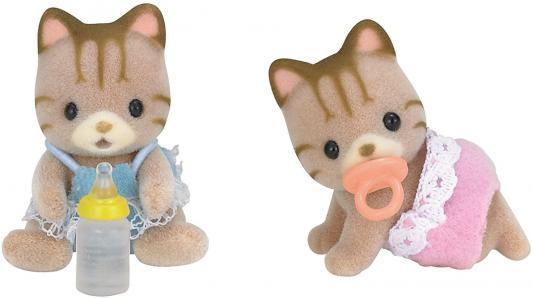 Игровой набор SYLVANIAN FAMILIES Полосатые котята-двойняшки 4 предмета 5188