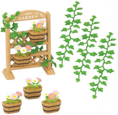 Игровой набор SYLVANIAN FAMILIES Садовый декор 24 предмета sylvanian families набор кухонный гарнитур