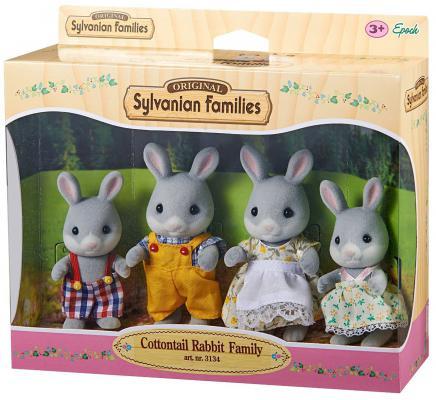 Игровой набор Sylvanian Families Семья Серых Кроликов 4 предмета 8711915031349