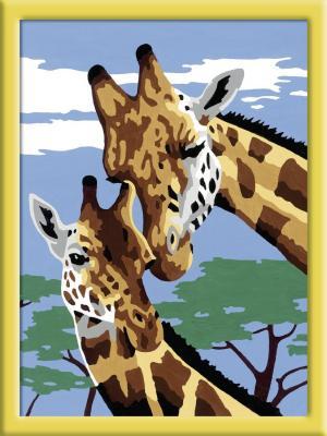 Набор для рисования Ravensburger Раскрашивание по номерам Веселые жирафы от 7 лет ravensburger картина по номерам веселые жирафы