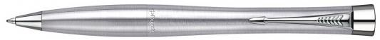 Шариковая ручка поворотная Parker Urban K200 Metro Metallic Mblue синий S0767120