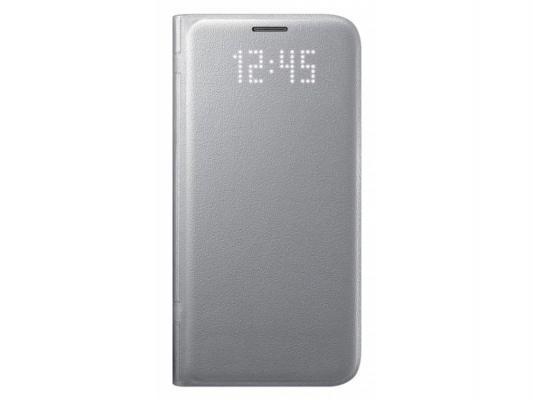 Чехол флип-кейс Samsung для Samsung Galaxy S7 edge LED View Cover серебристый EF-NG935PSEGRU