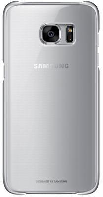 Чехол клип-кейс Samsung для Samsung Galaxy S7 edge Clear Cover серебристый прозрачный EF-QG935CSEGRU