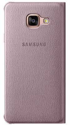 Чехол клип-кейс Samsung для Samsung Galaxy A7  Flip Wallet розовое золото (2016)  EF-WA710PZEGRU