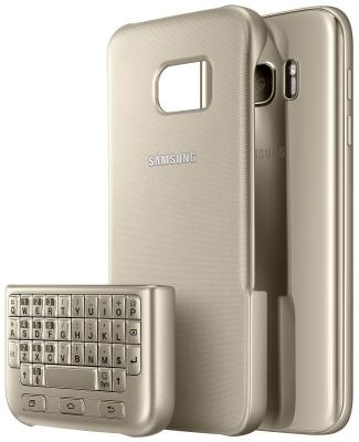Чехол-клавиатура Samsung для Samsung Galaxy S7 Keyboard Cover золотистый EJ-CG930UFEGRU чехол samsung ej cn920rfegru для samsung galaxy note 5 золотистый
