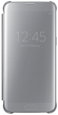 Чехол флип-кейс Samsung для Samsung Galaxy S7 edge Clear View Cover серебристый EF-ZG935CSEGRU