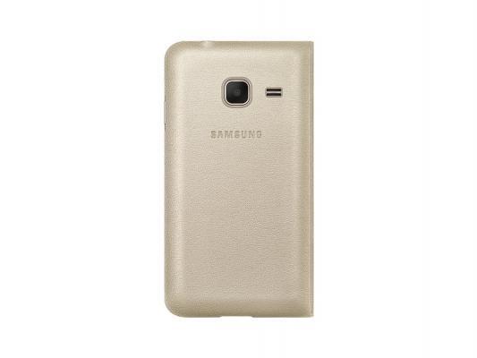 Чехол флип-кейс Samsung для Samsung Galaxy J1 mini Flip Cover золотистый EF-FJ105PFEGRU