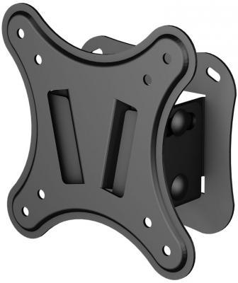 Кронштейн VOBIX VX 2211 B черный 17'' - 22'' VESA 75 х 75, 100 х 100 мм до 20 кг кронштейн для тв и панелей vobix vx 5533 b vx 5533 b vobix чер