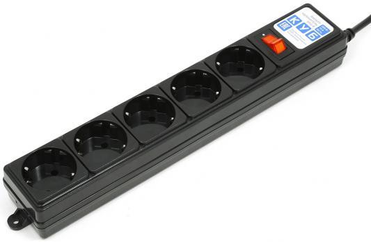Сетевой фильтр Power Cube SPG-B-10 черный 5 розеток 3 м