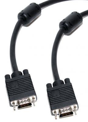 Кабель VGA 10м ферритовые кольца 5bites APC-133-100