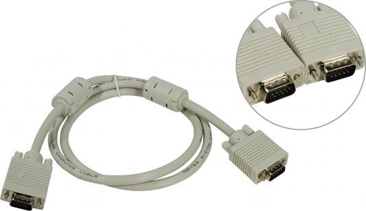 Кабель VGA 1м ферритовые кольца 5bites APC-133-010 кабель vga 20м ферритовые кольца 5bites apc 133 200