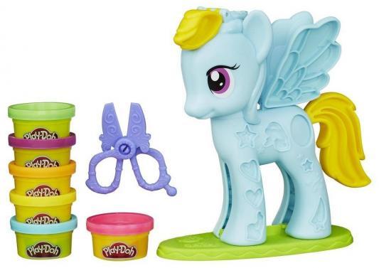 Набор для творчества Hasbro Play-Doh Стильный салон Рэйнбоу Дэш B0011H игровой набор стильный салон рэйнбоу дэш play doh