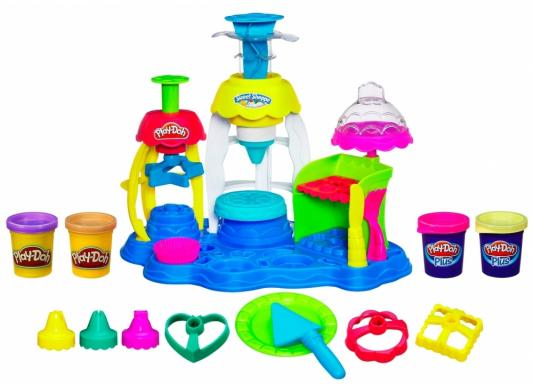 Набор для творчества Hasbro Play-Doh Фабрика пирожных от 3 лет А0318 hasbro play doh набор из 6 баночек блестящая коллекция с 3 лет