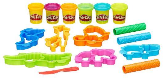 Набор для творчества Hasbro Play-Doh Весёлые сафари  B1168 блендер philips hr1628 00 погружной белый красный