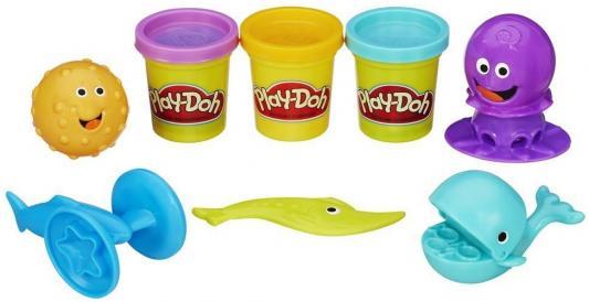 Набор для творчества Hasbro Play-Doh Подводный мир от 3 лет B1378 hasbro play doh набор из 6 баночек блестящая коллекция с 3 лет