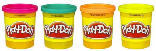 Набор для творчества Hasbro Play-Doh 4 баночки пластилина от 2 лет play doh hasbro набор 3 4 баночки