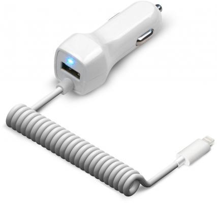 Автомобильное зарядное устройство Jet.A UC-I15 USB 8-pin Lightning 2.1A белый