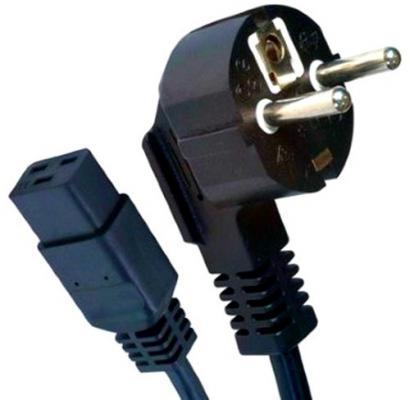 Фото - Кабель питания 1.8м 16А Gembird PC-186-C19 черный с заземлением кабель gembird кабель питания 10м pc 186 vde 10m