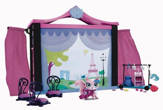 Игровой набор Hasbro Littlest Pet Shop Стильный подиум для показа мод 75 предметов
