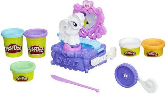 Набор для лепки Hasbro Play-Doh Туалетный столик Рарити B3400EU4 набор для лепки hasbro play doh от 2 лет 20 шт a7924