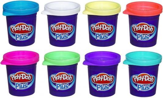 Набор для лепки Hasbro Play-Doh Plus от 2 лет 8 шт A1206 hasbro play doh игровой набор из 3 цветов цвета в ассортименте с 2 лет