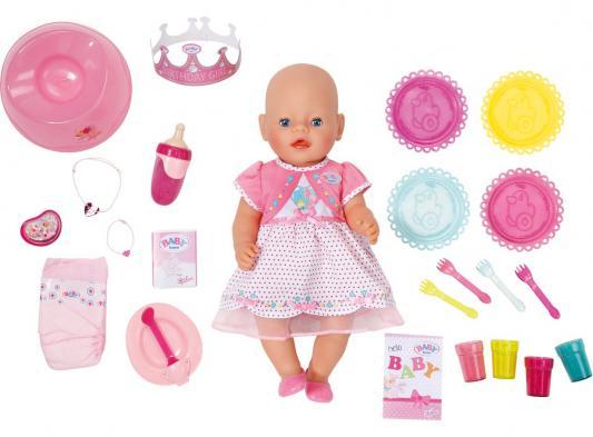 Кукла Zapf Creation Baby born Праздничная 43 см плачущая пьющая 823095