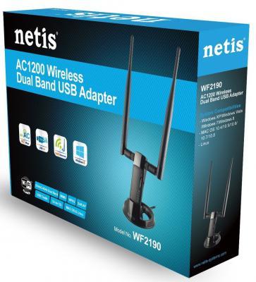 Беспроводной USB адаптер Netis WF-2190 802.11ac 867Mbps 2.4/5ГГц