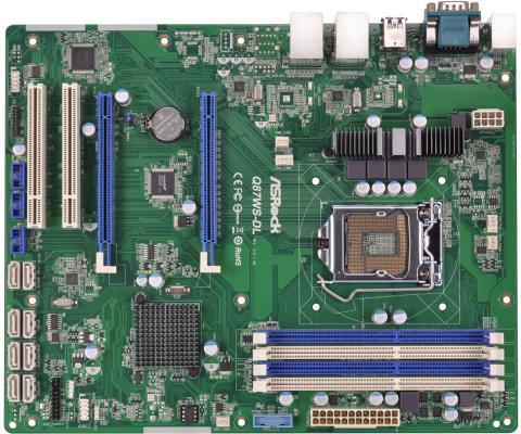 Мат. плата для ПК ASRock Q87WS-DL Socket 1150 Q87 4xDDR3 2xPCI-E 16x 2xPCI 6xSATAIII mATX Retail