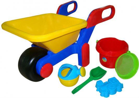 Купить Песочный набор Wader 455 Тачка, ведро 6 предметов 41838, Ведерки, лопатки и формочки для детей