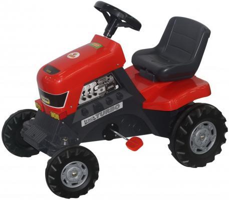 Купить Каталка-трактор с педалями Turbo 52674, Полесье, красный, Детская педальная машина