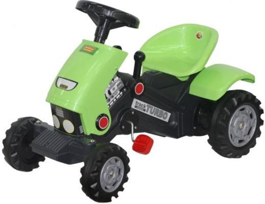 Купить Каталка-трактор с педалями Turbo -2 52735, Полесье, зеленый, Детская педальная машина