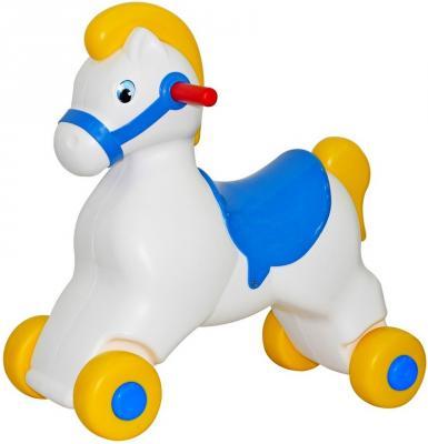 Каталка Cavallino Пони белый от 10 месяцев пластик 53534