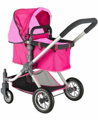 Коляска для кукол RT 646 фуксия+розовый коляска для кукол bayer design тренди цвет серый розовый
