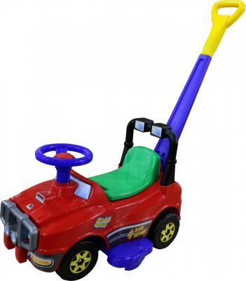 Каталка-машинка Molto Джип с ручкой №2 красный от 10 месяцев пластик