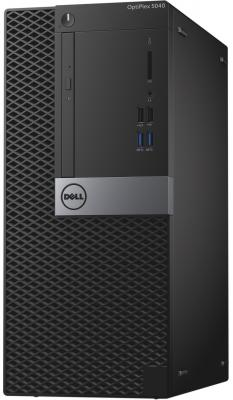 Системный блок DELL Optiplex 5040 MT i7-6700 3.4GHz 8Gb 500Gb HD530 DVD-RW Linux клавиатура мышь черный 5040-1967