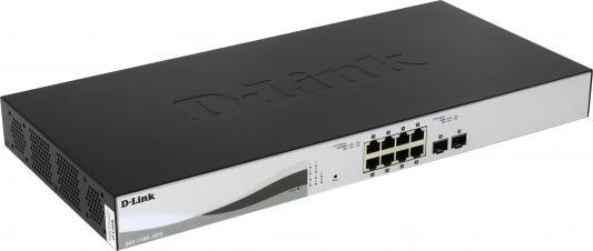 Коммутатор D-LINK DXS-1100-10TS/A1A настраиваемый 8 портов 10/100/1000Mbps 2xSFP