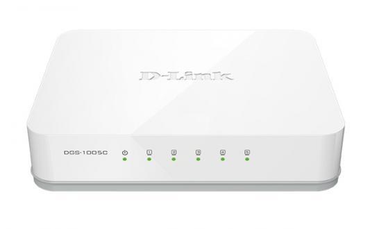 Коммутатор D-LINK DGS-1005C/A1A неуправляемый 5 портов 10/100/1000Mbps