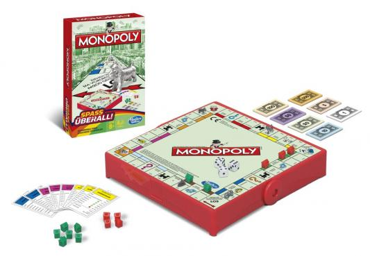 Настольная игра ходилка Hasbro Монополия (дорожная) B1002H hasbro hasbro настольная игра games классическая монополия