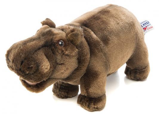 Мягкая игрушка бегемотик Hansa 2887 искусственный мех коричневый 30 см