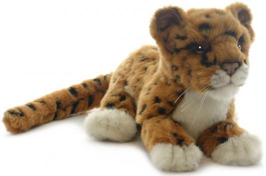 Купить Мягкая игрушка Hansa Детеныш ягуара плюш коричневый 26 см 4093, Животные