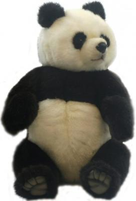 Мягкая игрушка панда Hansa 4473 искусственный мех разноцветный 30 см мягкая игрушка медведь hansa 4982 искусственный мех черный 90 см лежащий