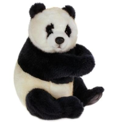 Мягкая игрушка панда Hansa сидящая искусственный мех 25 см 4184 мягкие игрушки hansa обезьянка сидящая палевая 20 см