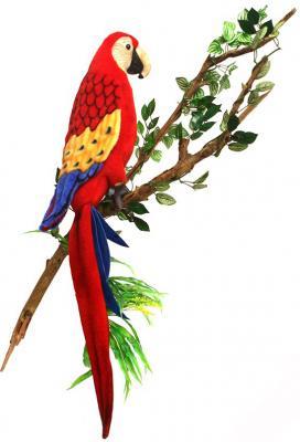 Мягкая игрушка попугай Hansa Ара искусственный мех красный 72 см 3067С
