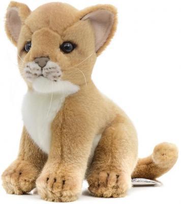 Купить Мягкая игрушка львенок Hansa 3422 искусственный мех коричневый 18 см, Животные