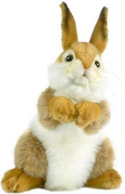 Мягкая игрушка кролик Hansa 3316 искусственный мех коричневый 30 см мягкая игрушка собака hansa собака породы бишон фризе искусственный мех белый 30 см 6317