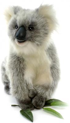 Мягкая игрушка Hansa Счастливая Коала искусственный мех серый 23 см 3637 hansa мягкая игрушка hansa счастливая коала 23 см