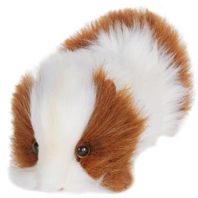 Мягкая игрушка морская свинка Hansa 3735 искусственный мех белый коричневый 20 см