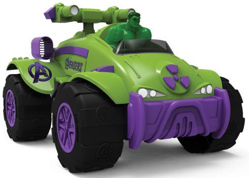 """Интерактивная игрушка Yellow машинка """"Мстители"""" - Халк от 3 лет зелёный"""