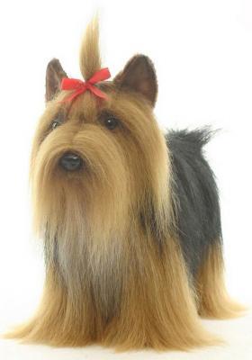Мягкая игрушка собака Hansa Йоркширский терьер искусственный мех коричневый 36 см 5909 мягкая игрушка собака orange чихуа kiki малиновый блеск текстиль искусственный мех розовый коричневый 25 см ld010